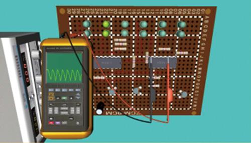 电子测量三维仿真实训室封面